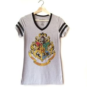 Harry Potter Hogwarts Houses Crest SS Graphic Tee